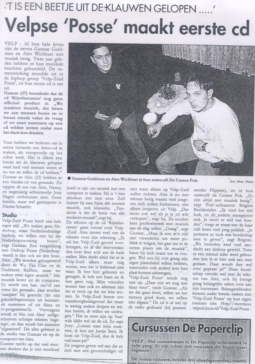 Eerste VZP interview ooit - Velp Zuid Posse